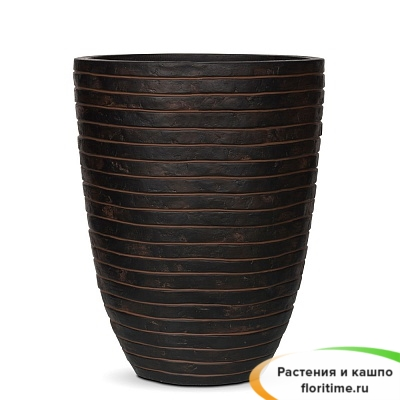 Кашпо Capi Nature Vase Elegant Low Row, brown