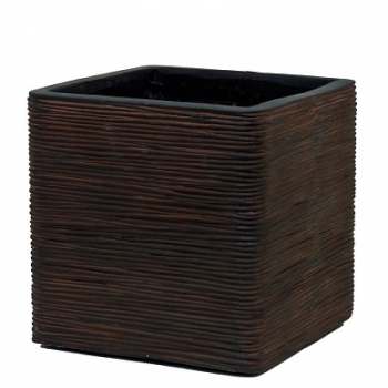 Кашпо Capi Nature Planter Square, rib brown
