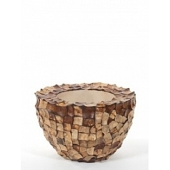 Кашпо Nieuwkoop Tunda bowl coconut shell natural