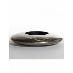 Кашпо Nieuwkoop Ufo planter platinum with mother of pearl