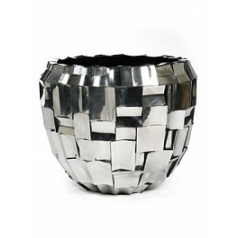 Кашпо Plants First Choice Boxer polished stainless steel round  Диаметр — 60 см