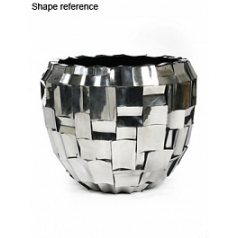 Кашпо Plants First Choice Boxer polished stainless steel round  Диаметр — 110 см