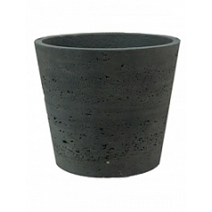 Кашпо Pottery Pots Eco-line mini bucket L размер black, чёрного цвета washed  Диаметр — 23 см