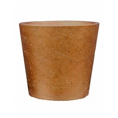 Кашпо Pottery Pots Eco-line mini bucket M размер metallic copper  Диаметр — 16 см