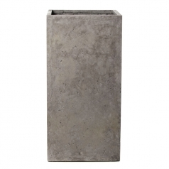 Кашпо Concretika Column Concrete Graphite, цемент, графит