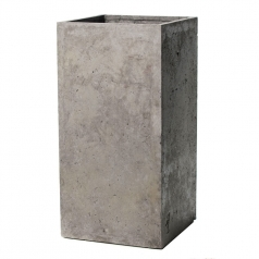 Кашпо Concretika Column Concrete Smokey-gray, дымчато-серый