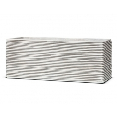 Кашпо Nature Planters Rectangular rib ivory