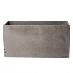 Кашпо Concretika Polycube high Concrete Graphite, цемент, графит