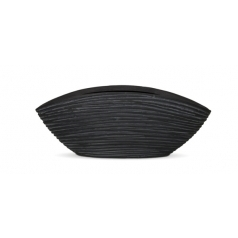 Кашпо Capi Nature Oval Planter Low Mini, rib black