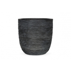Кашпо Capi Nature Planter Ball, rib black