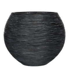 Кашпо Capi Nature Vase Ball, rib black