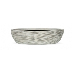 Кашпо Capi Nature Bowl Rib, Ivory