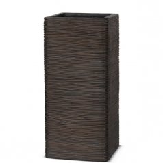 Кашпо Capi Nature Planter Rectangular Hight, rib brown