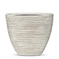 Кашпо Capi Nature Oval Planter High Mini Rib, Ivory
