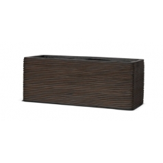 Кашпо Capi Nature Planter Rectangular, rib brown