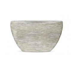 Кашпо Capi Nature Planter Oval Rib, Ivory