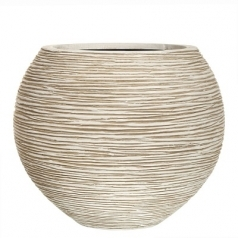 Кашпо Capi Nature Vase Ball Rib, Ivory