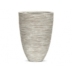 Кашпо Capi Nature Vase Elegant Low Rib, Ivory