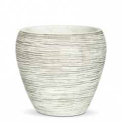 Кашпо Capi Nature Vase Tapered Round Mini Rib, Ivory
