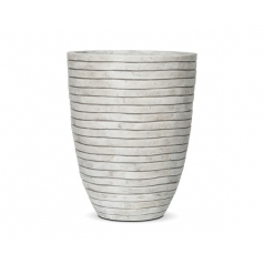 Кашпо Capi Nature Vase Elegant Low Row, Ivory