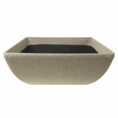Кашпо Composite Conic Low Bowl, полистоун