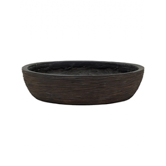 Кашпо Capi nature bowl round rib brown