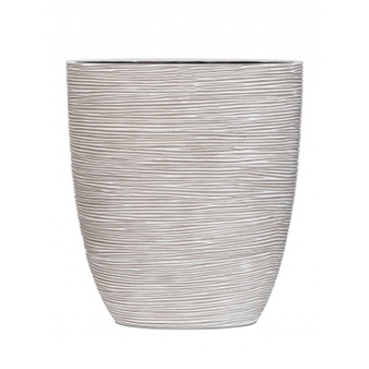 Кашпо Capi nature oval planter rib ivory