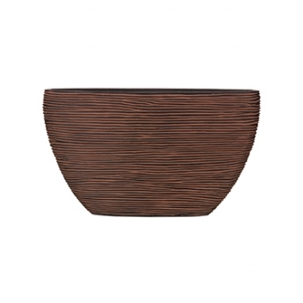 Кашпо Capi nature planter oval rib brown