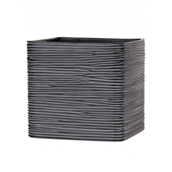 Кашпо Capi nature planter square rib black