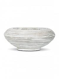 Кашпо Capi Nature bowl round ll rib ivory, слоновая кость