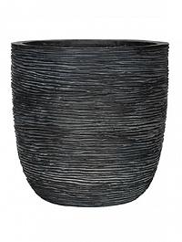 Кашпо Capi Nature egg planter rib 3-й размер black, чёрный