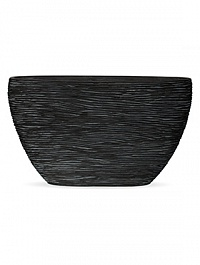 Кашпо Capi Nature planter oval high rib black, чёрный