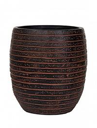 Кашпо Capi Nature row vase elegant high 2-й размер brown, коричневый