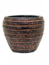 Кашпо Capi Nature row vase taper round 2-й размер brown, коричневый