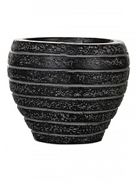 Кашпо Capi Nature row vase taper round 3-й размер black, чёрный