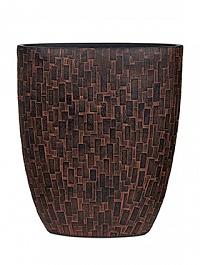Кашпо Capi Nature stone oval planter 3-й размер brown, коричневый