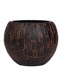 Кашпо Capi Nature stone vase ball 3-й размер brown, коричневый