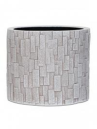 Кашпо Capi Nature stone vase cylinder 2-й размер ivory, слоновая кость
