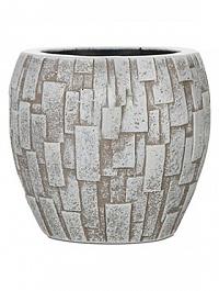 Кашпо Capi Nature stone vase elegant 3-й размер ivory, слоновая кость