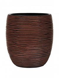 Кашпо Capi Nature vase elegant high 2-й размер rib brown, коричневый