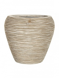Кашпо Capi Nature vase tapering round rib 2-й размер ivory, слоновая кость