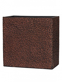 Кашпо Capi Nature wood planter rect high 3-й размер brown, коричневый