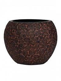 Кашпо Capi Nature wood vase ball 2-й размер brown, коричневый