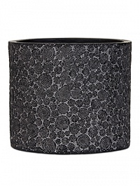 Кашпо Capi Nature wood vase cylinder 2-й размер black, чёрный