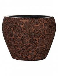 Кашпо Capi Nature wood vase taper round 2-й размер brown, коричневый
