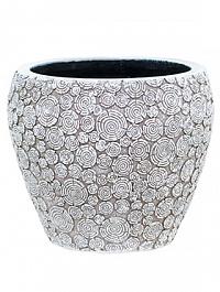 Кашпо Capi Nature wood vase taper round 2-й размер ivory, слоновая кость