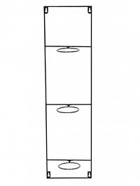 Держатель для Кашпо Artstone amy potrack vert black, чёрного цвета (3x hole for 10 cm) Длина — 20 см
