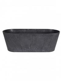 Кашпо Artstone claire balcony black, чёрного цвета Длина — 55 см