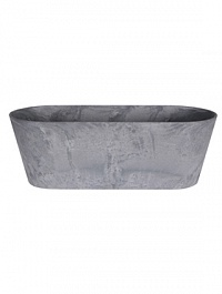 Кашпо Artstone claire balcony grey, серого цвета Длина — 55 см