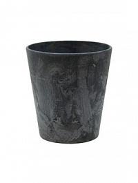 Кашпо Artstone claire pot black, чёрного цвета Диаметр — 13 см